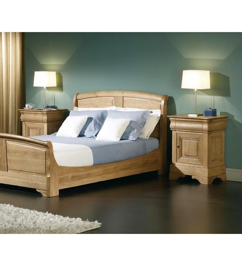 chambre à coucher chêne massif, table de nuit