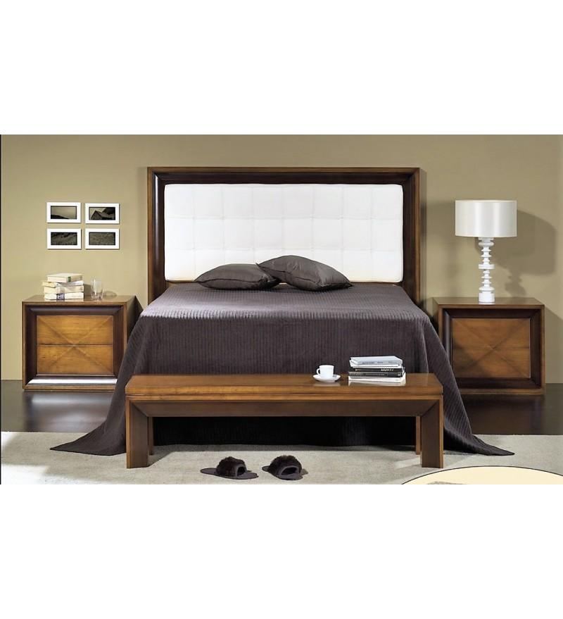 Chambre coucher merisier massif table de nuit - Chambre a coucher merisier ...